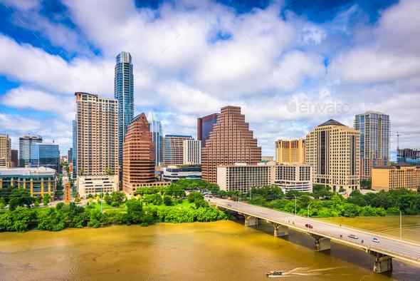 Austin, Texas Skyline - Stock Photo - Images