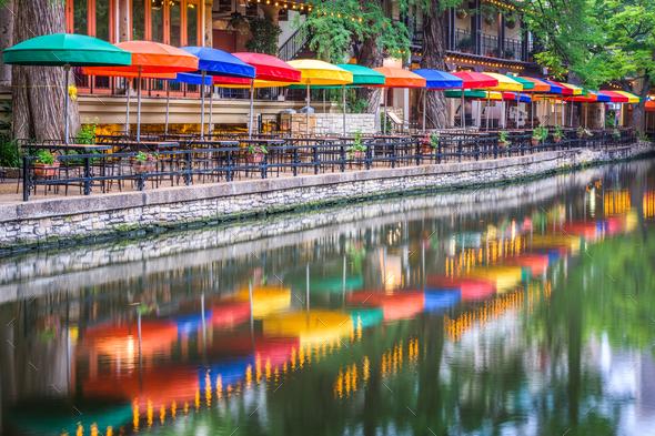San Antonio River Walk - Stock Photo - Images
