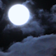 Full Moon in Night Sky 2 - VideoHive Item for Sale