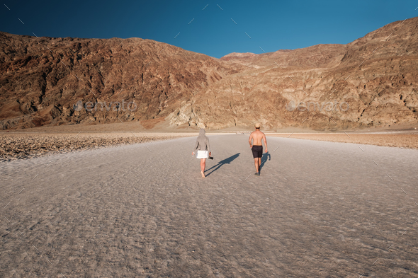 Tourists in Death Valley National Park - Stock Photo - Images