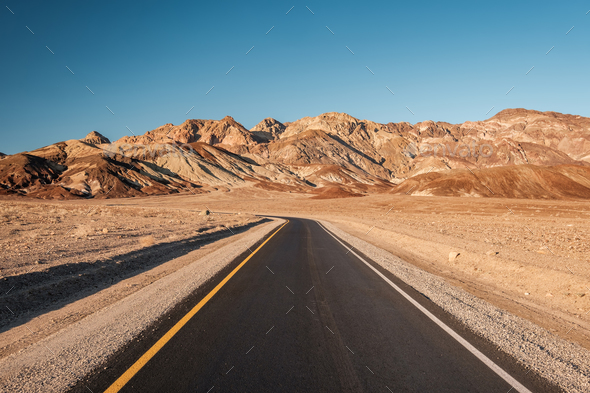 Artist's Drive in Death Valley - Stock Photo - Images