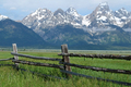 Grand Teton Mountains with low clouds - PhotoDune Item for Sale