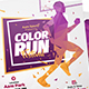 Color Run Event Poster & Roll-Up Bundle