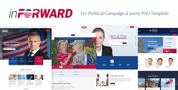 inForward – Political Campaign, Party, Nonprofit PSD Template