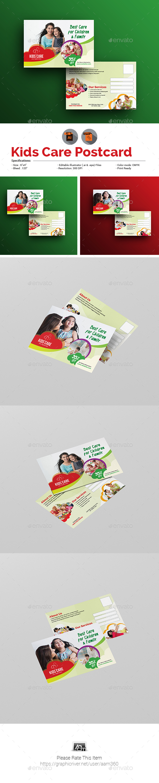 Child Care Postcard Template - Cards & Invites Print Templates