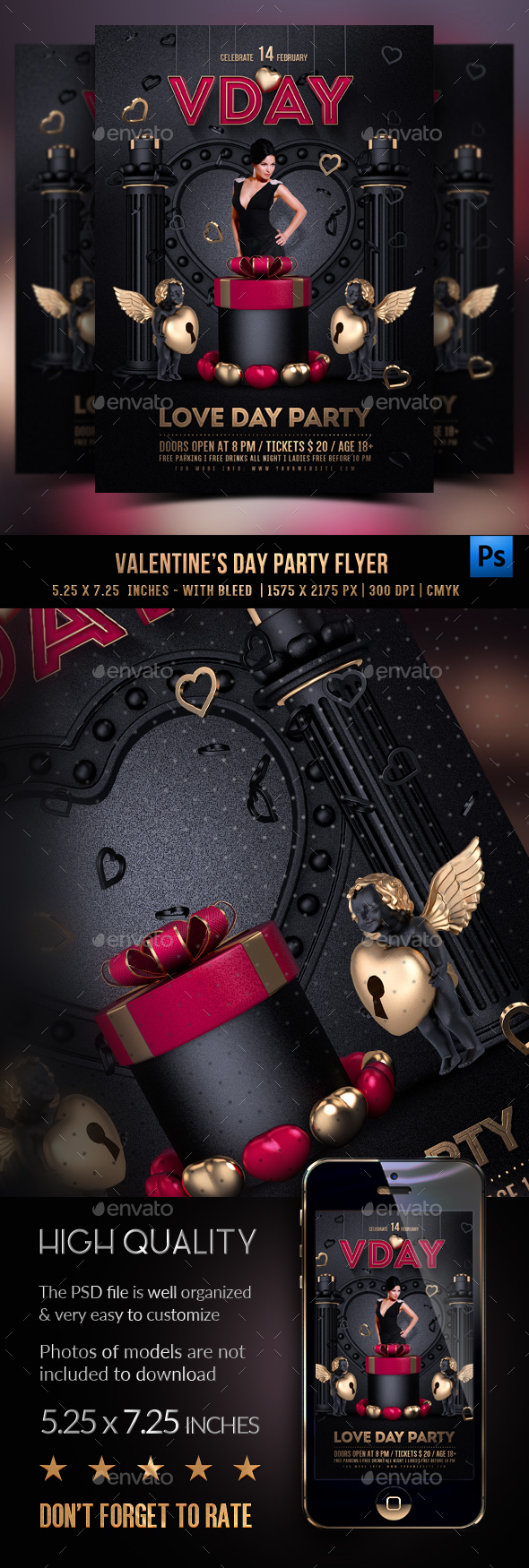 Valentines  Flyer - Clubs & Parties Events