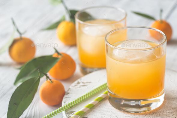 Two glasses of orange juice - Stock Photo - Images