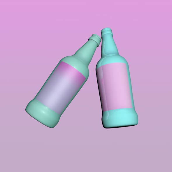 Neon Bottle - 3DOcean Item for Sale