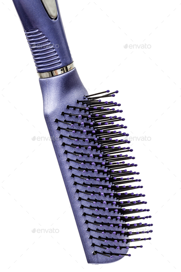 New plastic comb for hair, isolated on white background - Stock Photo - Images