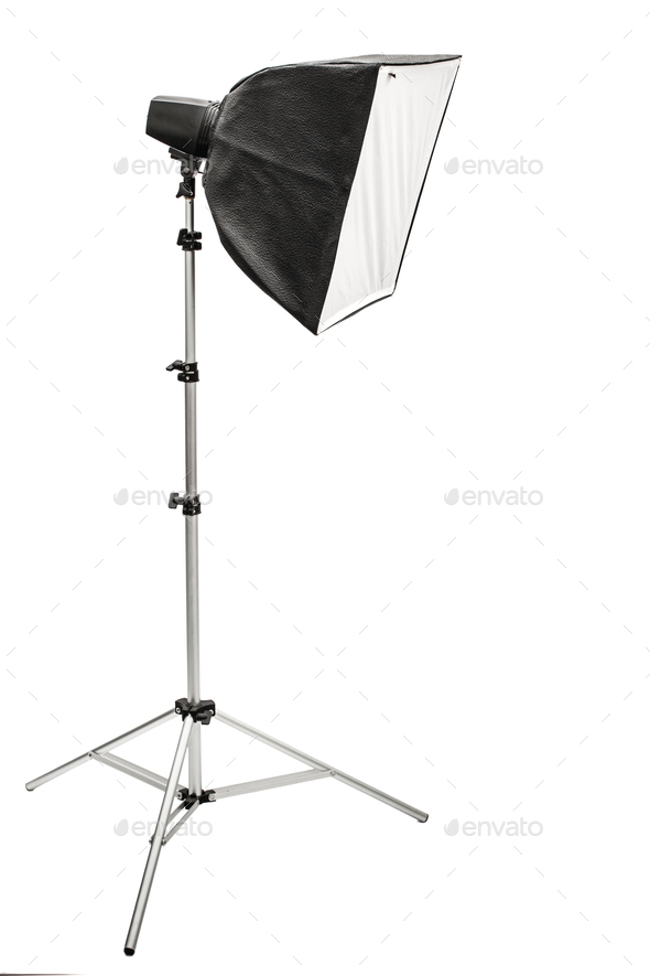 Big photographic softbox, isolated on a white background - Stock Photo - Images