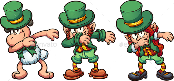 Dabbing Leprechauns - Miscellaneous Seasons/Holidays