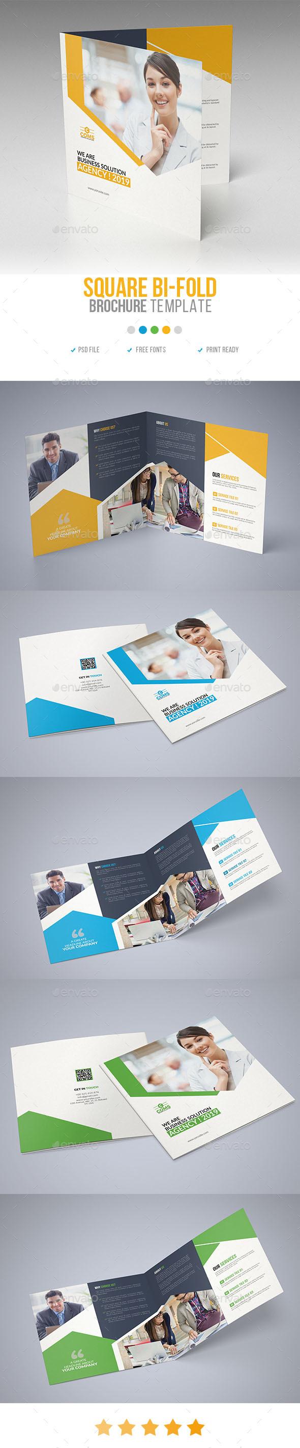 Corporate Square Bi Fold Brochure 04 - Corporate Brochures