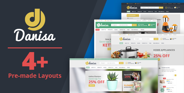 ThemeForest Danisa Appliances Gifts Flower Kitchenware Magento Theme 21239419