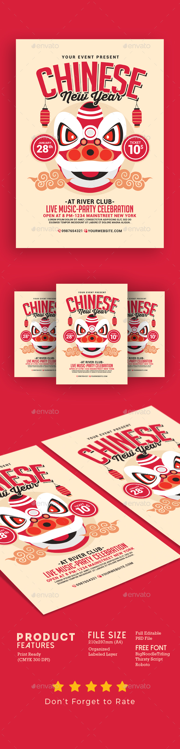 Chinese New Year Flyer 2 - Events Flyers