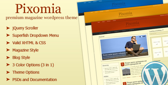 Pixomia – Premium Magazine WordPress Theme