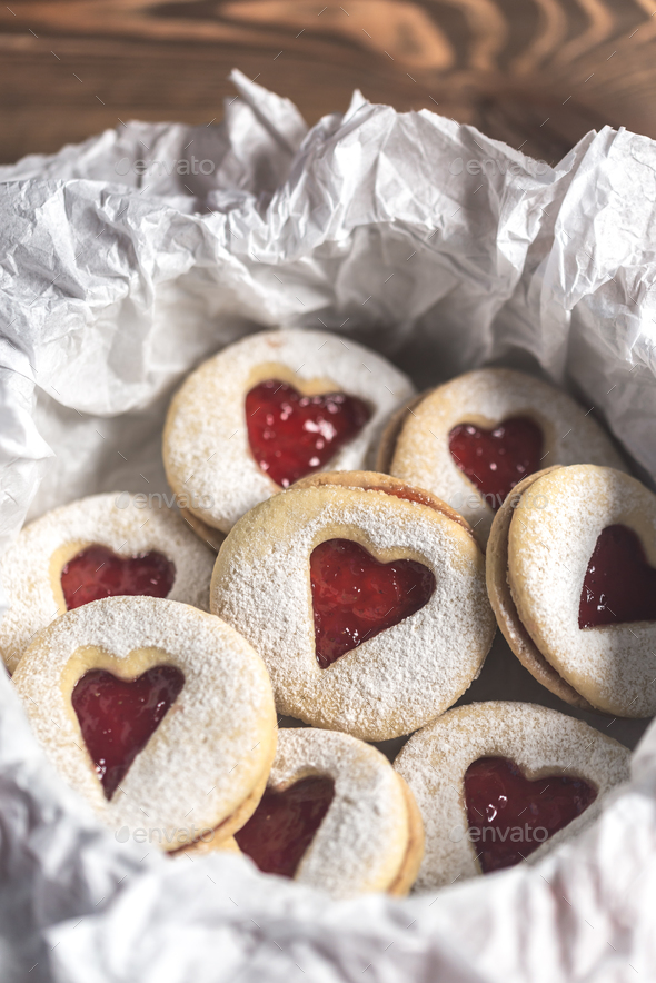 Heart shaped cookies - Stock Photo - Images
