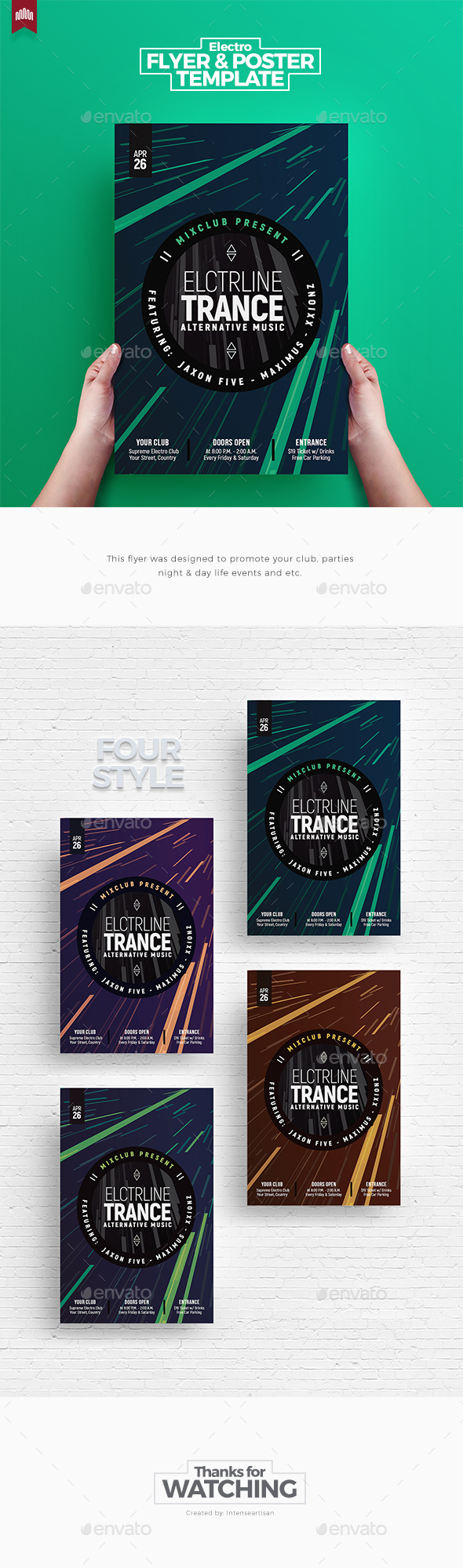 Electro Line Trance - Flyer Template - Clubs & Parties Events