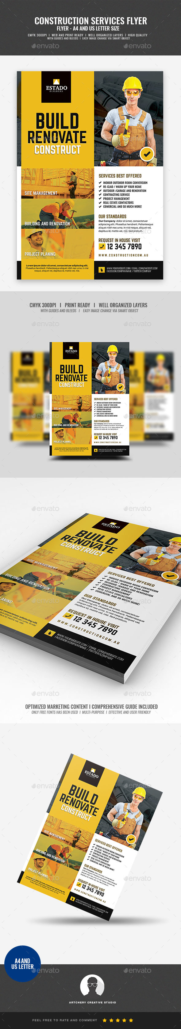 Contractor and Builder Flyer - Corporate Flyers