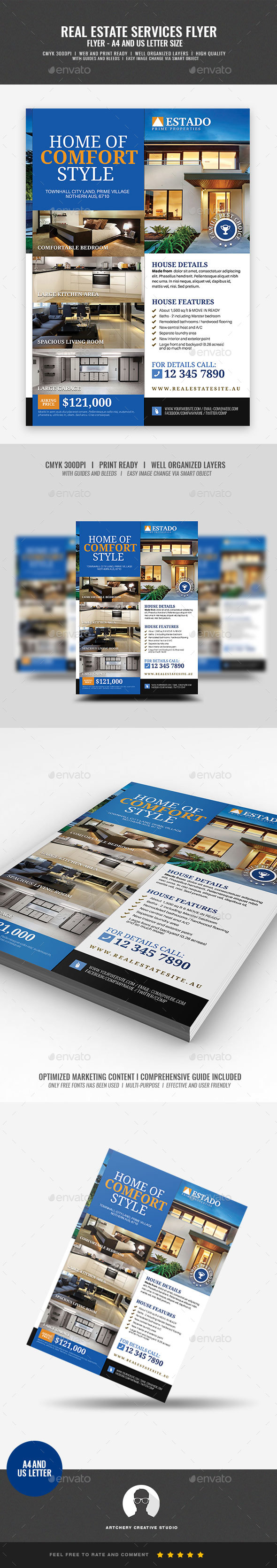 Modern and Corporate Real Estate Flyer - Corporate Flyers