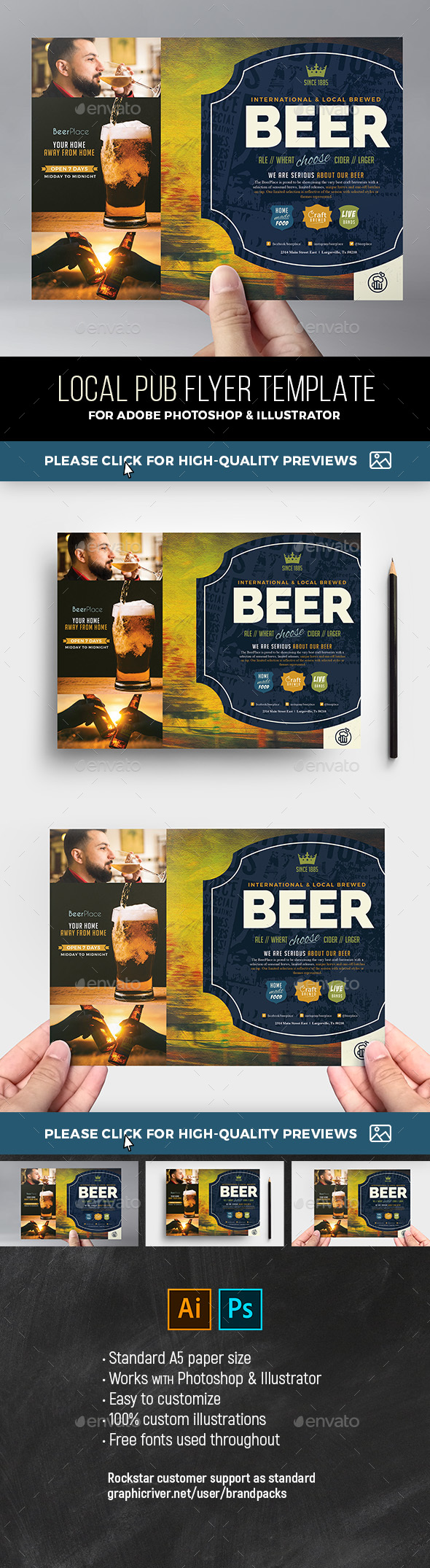 Local Pub Flyer Template - Restaurant Flyers