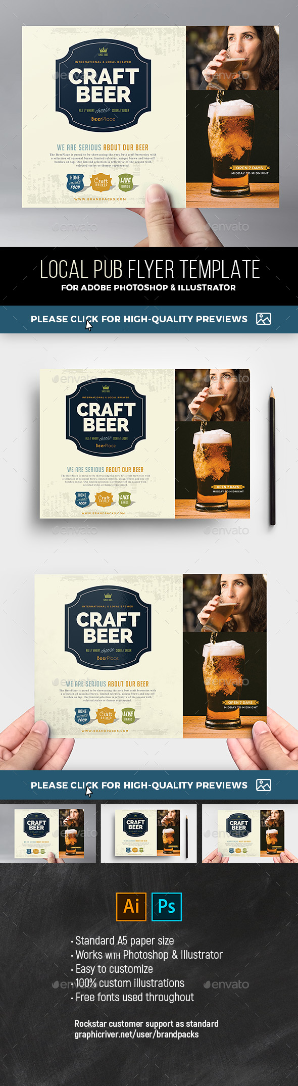 Local Pub Flyer Template v2 - Restaurant Flyers