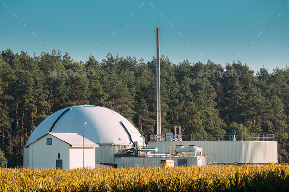 Biogas Plant Or Bioreactor For Fermentation Of Chicken Manure - Stock Photo - Images