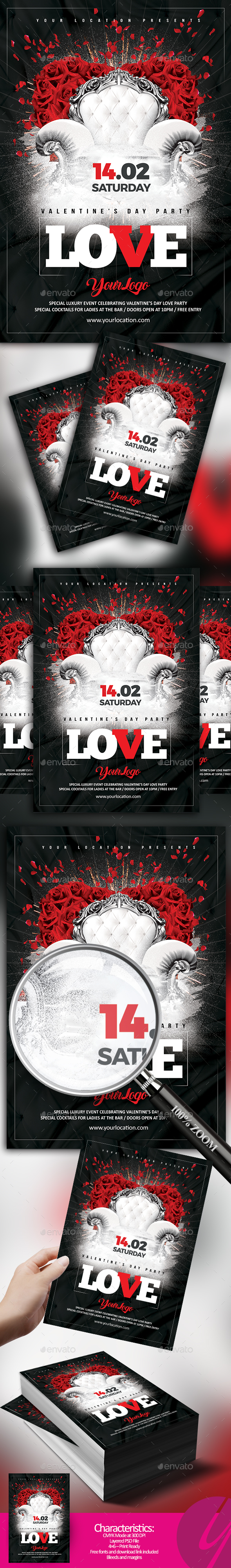 Valentine Love Party - Clubs & Parties Events