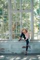girl sitting on window - PhotoDune Item for Sale