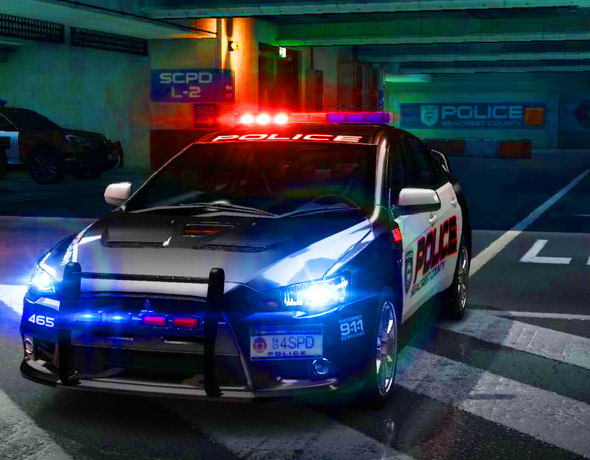MITSUBISHI LANCER EVOLUTION X NYPD POLICE. - 3DOcean Item for Sale