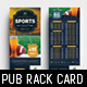 Sports Bar Rack Card Template - GraphicRiver Item for Sale