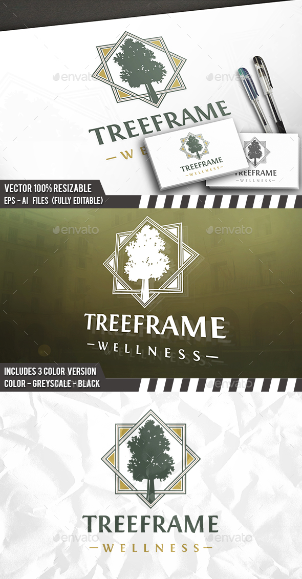 Tree Frames Logo - Crests Logo Templates