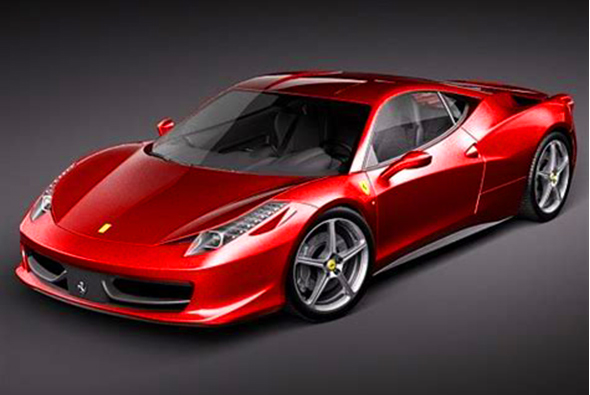 Ferrari 458 Italia 3d model. - 3DOcean Item for Sale