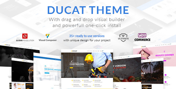 Ducat - Responsive Multi-Purpose WordPress Theme - Business Corporate