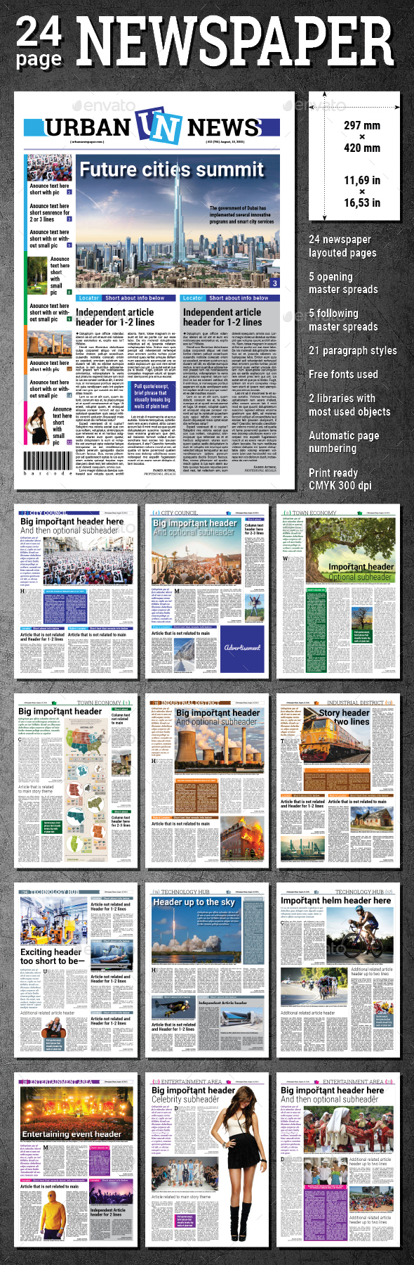 Daily Newspaper - Newsletters Print Templates