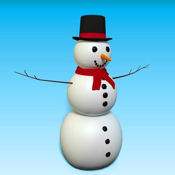 SNOW MAN HIGHPOLLY. - 3DOcean Item for Sale