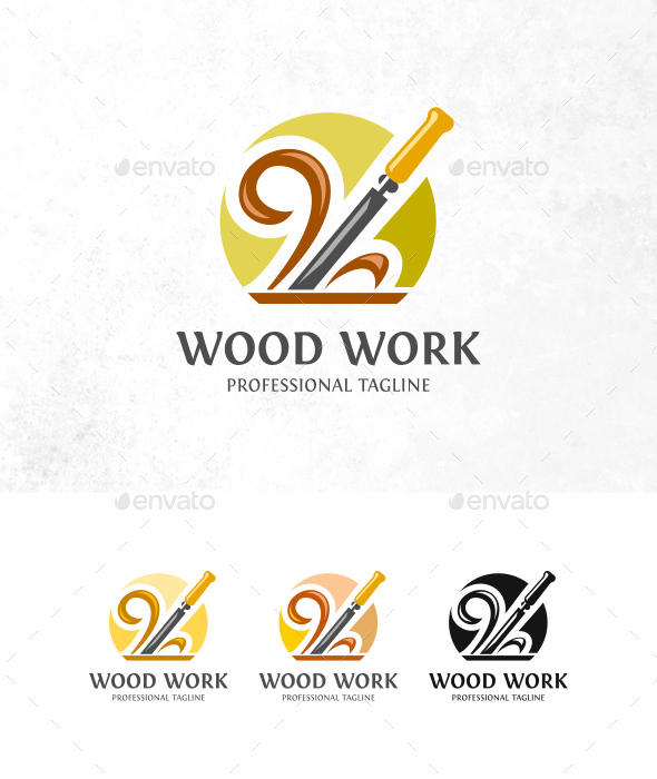 Wood Work Logo - Objects Logo Templates