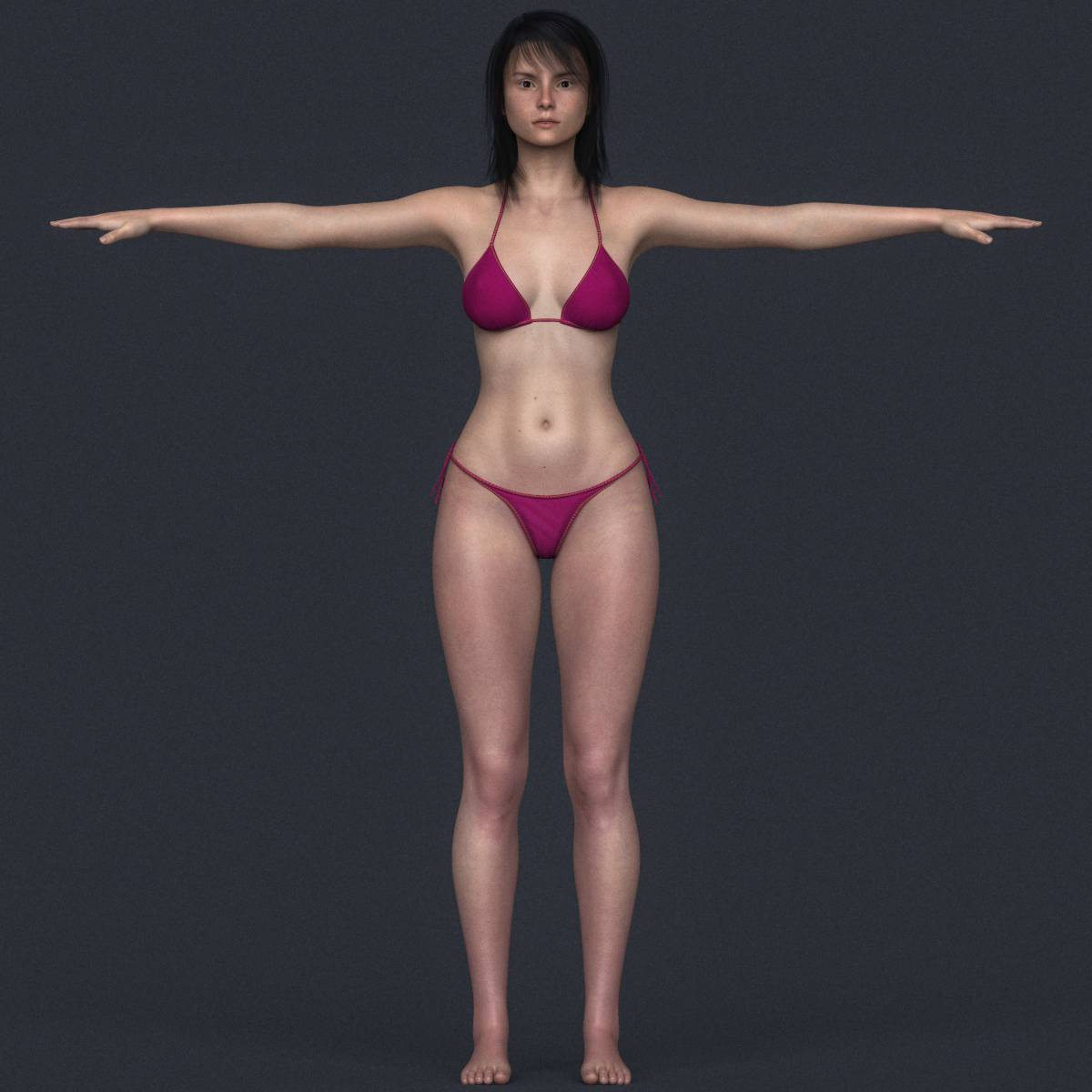 Realistic Young Bikini Girl By Plantworld3D  3Docean-5785