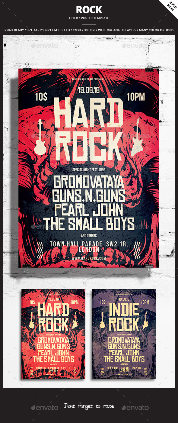 Rock Flyer / Poster 10 - Events Flyers
