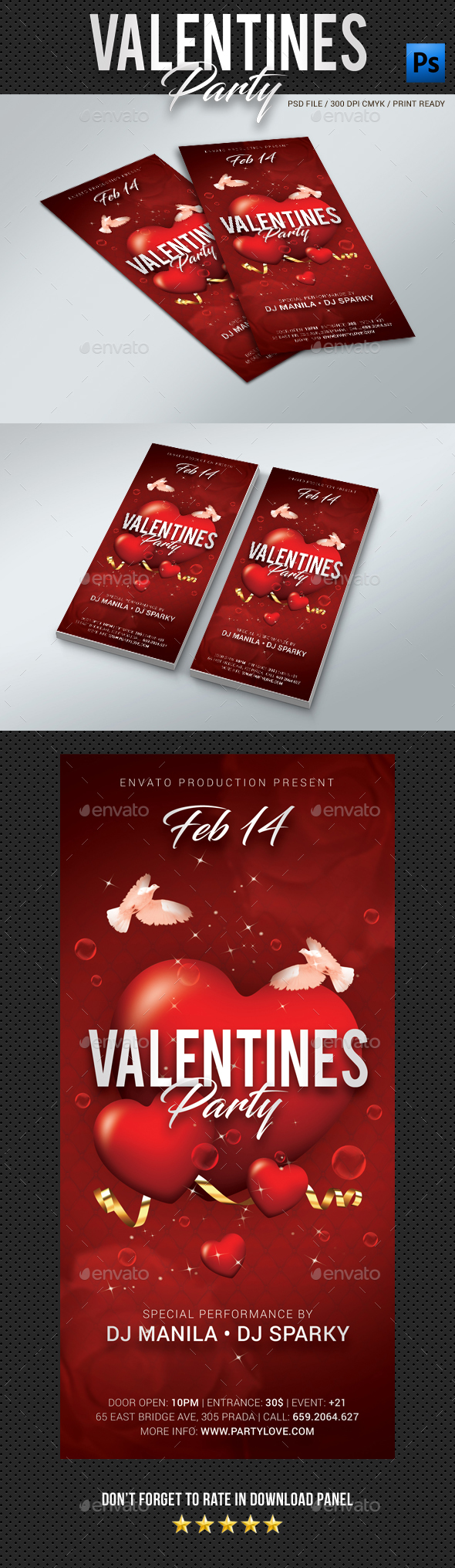 DL Valentines Day Party Flyer - Clubs & Parties Events