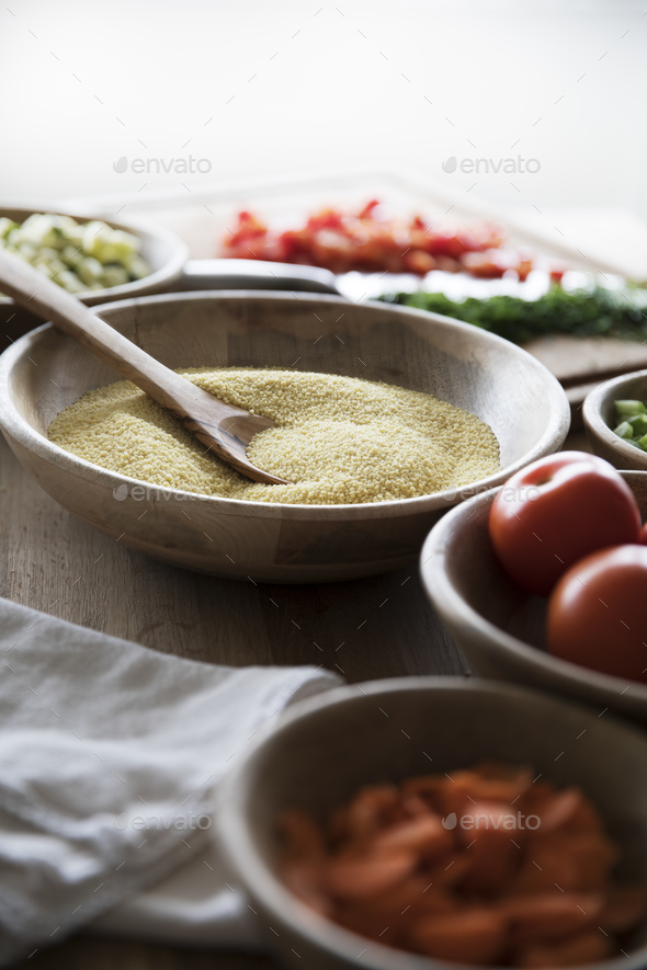Polenta and Other Ingredients - Stock Photo - Images