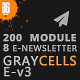 Graycells Email v3 | Responsive 200 + Modules