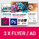 Art Business Universal Flyer/ad 3x InDesign and Photoshop Brush Distortion Template - GraphicRiver Item for Sale
