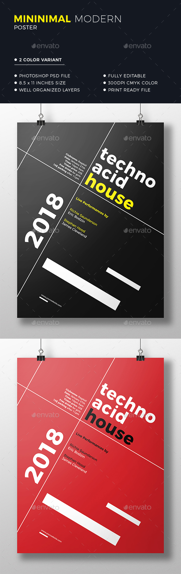 Minimal Poster - Clubs & Parties Events