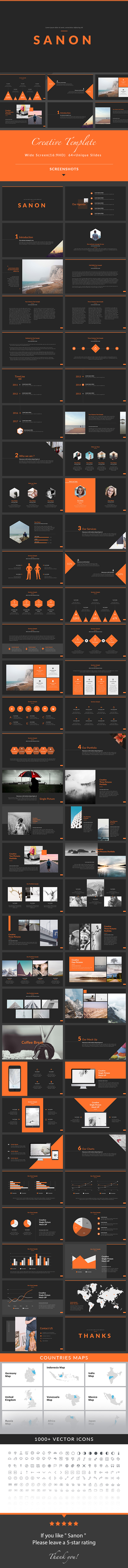 Sanon - Keynote Presentation Template - Creative Keynote Templates
