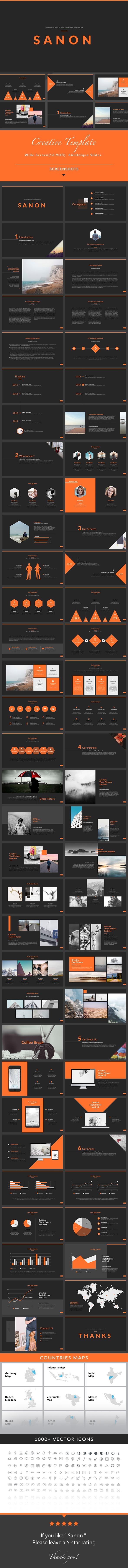 Sanon - PowerPoint Presentation Template - Creative PowerPoint Templates