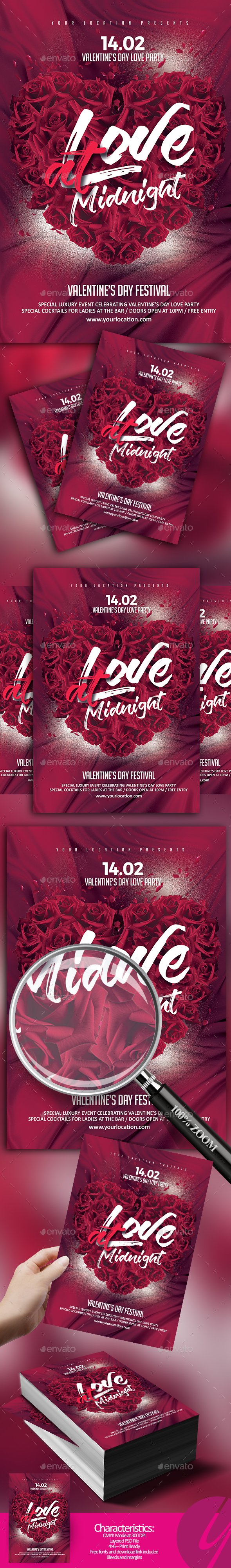Love at Midnight Flyer - Clubs & Parties Events