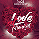 Love at Midnight Flyer - GraphicRiver Item for Sale