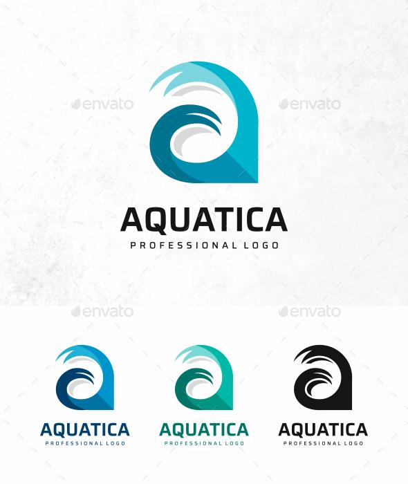 Aqua A Letter Logo - Letters Logo Templates