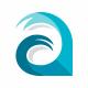 Aqua A Letter Logo
