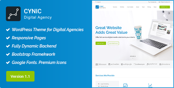 Cynic - Digital Agency WordPress Theme - Technology WordPress